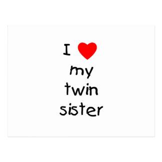 I Love My Twin Sister Postcard