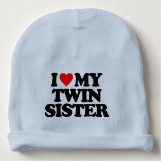 I LOVE MY TWIN SISTER BABY BEANIE