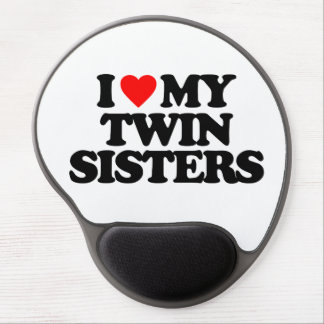 I LOVE MY TWIN SISTERS GEL MOUSE PAD