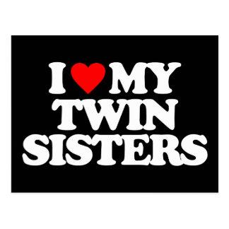 I LOVE MY TWIN SISTERS POSTCARD