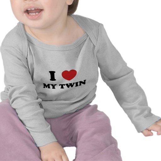 I Love My Twin T-shirts