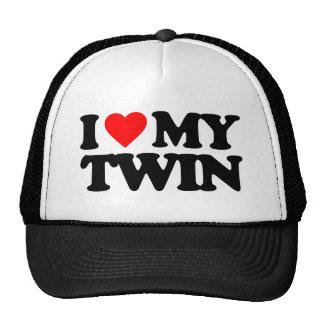 I LOVE MY TWIN TRUCKER HAT