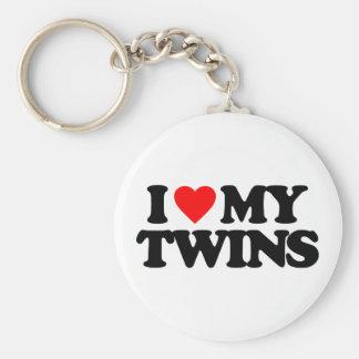 I LOVE MY TWINS KEYCHAIN