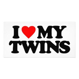 I LOVE MY TWINS PHOTO CARD