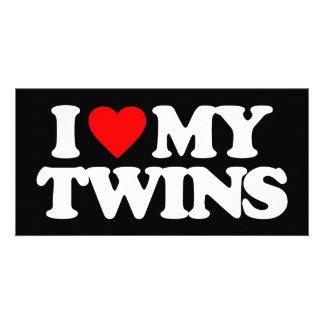 I LOVE MY TWINS CUSTOM PHOTO CARD