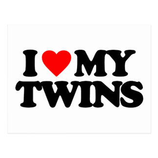 I LOVE MY TWINS POSTCARD