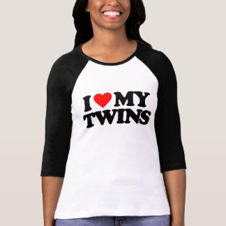 I LOVE MY TWINS T SHIRT
