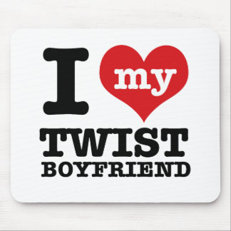 I love my twist Boyfriend Mouse Pad