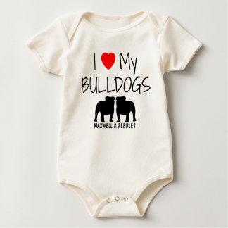 I Love My Two Bulldogs Romper