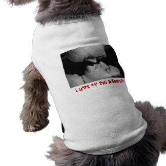 I Love my Two Daddies Dog T Shirt