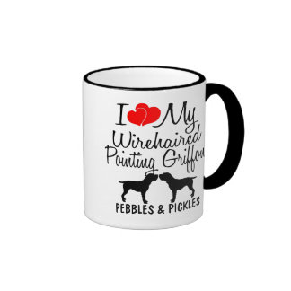 I Love My Two Wirehaired Pointing Griffons Ringer Mug