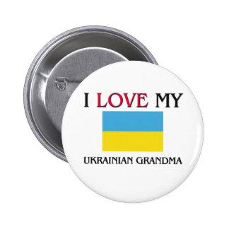 I Love My Ukrainian Grandma Pinback Button