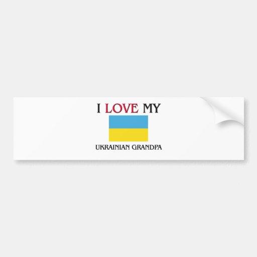 I Love My Ukrainian Grandpa Bumper Sticker