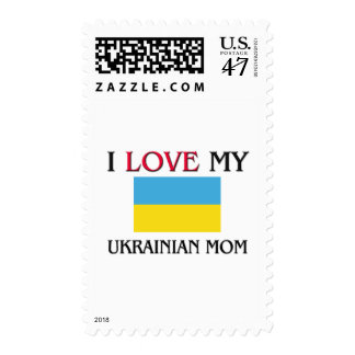 I Love My Ukrainian Mom Postage
