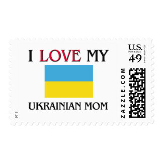 I Love My Ukrainian Mom Postage Stamp