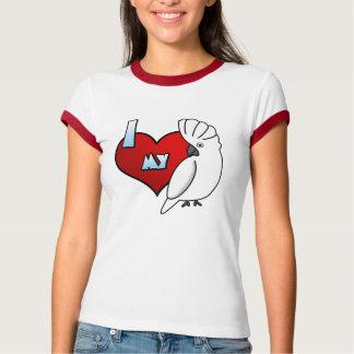 I Love my Umbrella Cockatoo Ladies Ringer T-Shirt