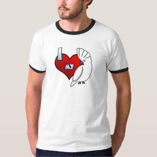 I Love my Umbrella Cockatoo Ringer TShirt