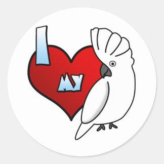 I Love my Umbrella Cockatoo Stickers