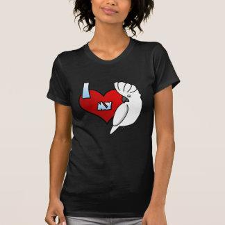 I Love my Umbrella Cockatoo Women's Twofer Shirt