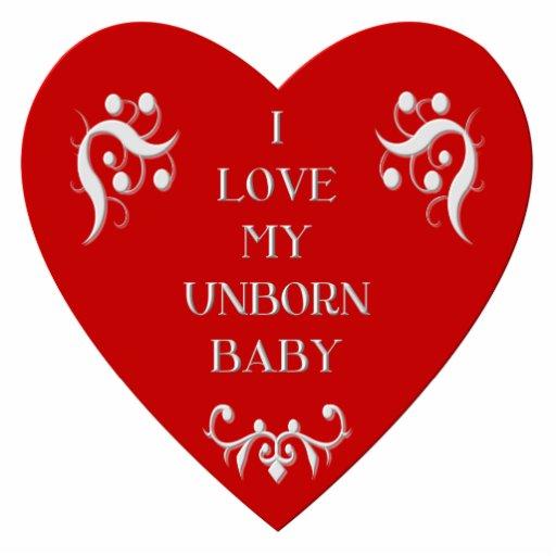 """I love my unborn baby"" Photo Sculptures"