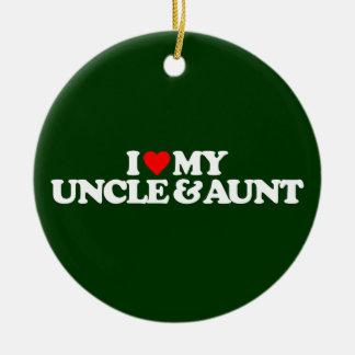 I LOVE MY UNCLE & AUNT CERAMIC ORNAMENT