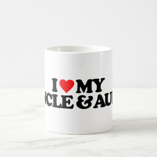 I LOVE MY UNCLE & AUNT 11 OZ MAGIC HEAT Color-Changing COFFEE MUG