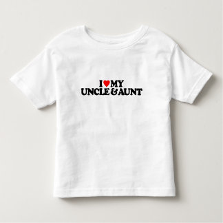 I LOVE MY UNCLE & AUNT TODDLER T-SHIRT