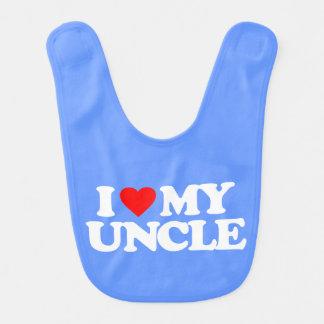 I LOVE MY UNCLE BABY BIB