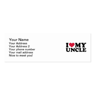 I love my uncle Double-Sided mini business cards (Pack of 20)