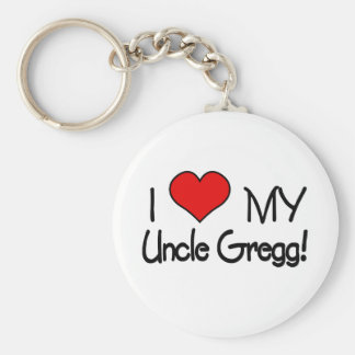 I Love My Uncle Gregg Keychain