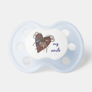 I Love My Uncle Heart Pacifier