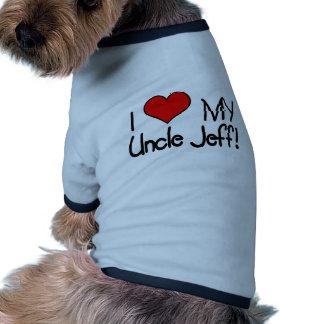 I Love My Uncle Jeff! Dog Tee