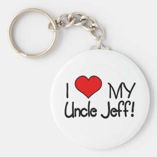 I Love My Uncle Jeff! Keychain