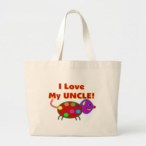 """""""I love my UNCLE""""  Kids T-Shirts/gifts Tote Bags"""