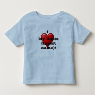 I Love My Uncle (name) Child's Heart T Shirt
