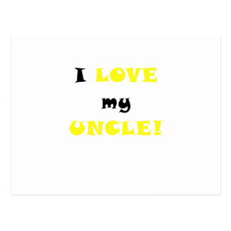 I Love my Uncle Postcard