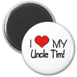 I Love My Uncle Tim Refrigerator Magnets