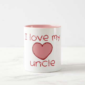 I love my uncle Two-Tone coffee mug