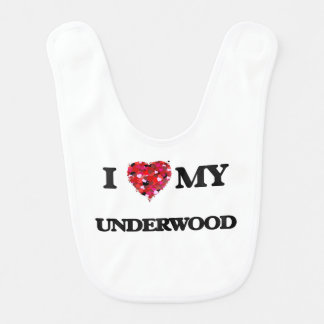 I Love MY Underwood Bibs