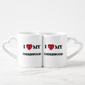I Love MY Underwood Couples' Coffee Mug Set