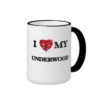 I Love MY Underwood Ringer Coffee Mug
