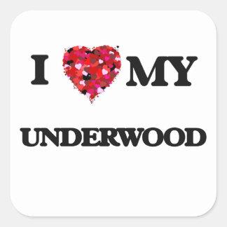 I Love MY Underwood Square Sticker