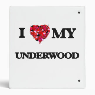 I Love MY Underwood Vinyl Binder