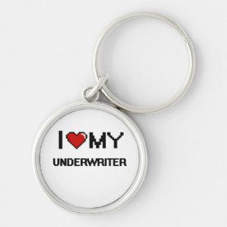 I love my Underwriter Silver-Colored Round Keychain