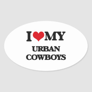 I Love My URBAN COWBOYS Stickers