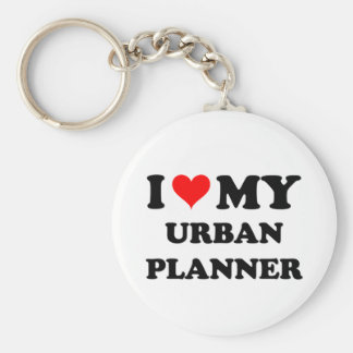I Love My Urban Planner Key Chains