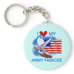 I Love My US Army Fiancee Tshirts and Gifts Keychain