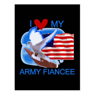 I Love My US Army Fiancee Tshirts and Gifts Postcard