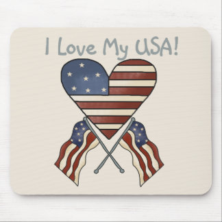 I Love My USA Tshirts and Gifts Mouse Pad
