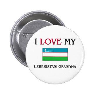 I Love My Uzbekistani Grandma Buttons